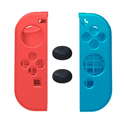 maxku-nintendo-switch-silicone-case-soft-anti-slip-silicone-cover-skins-thumb-grips-caps-gel-guards-