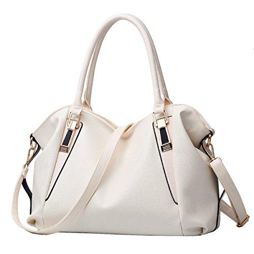 LAIDAYE Frau Handtasche Mode Handtasche Schultertasche Messenger Bag Big Bag White