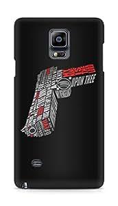 Amez designer printed 3d premium high quality back case cover for Samsung Galaxy Note 4 (Pistol gun pulp fiction)
