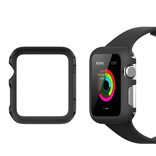 JETech Funda para Apple Watch 42mm Series 1 2 3, Negro