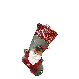 thematys Calcetín de Navidad Medias para Rellenar y Colgar en 10 diseños Diferentes – la decoración navideña