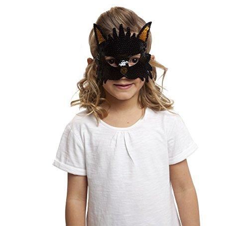 viving Kostüme viving costumes203589Katze Pailletten Maske (One Size)
