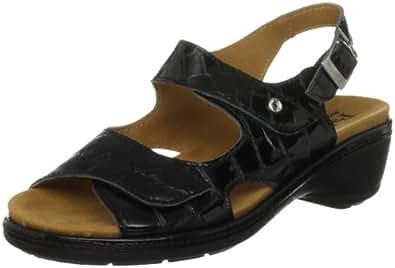 Padders Women's Glint Black Ankle Strap Heels 703 7 UK