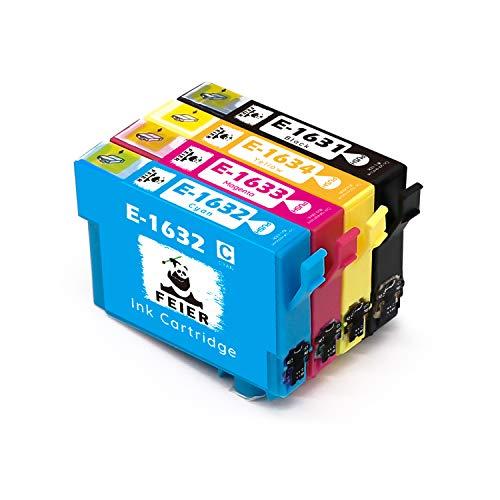 feier 16XL, cartucce di inchiostro per Epson 16 XL, cartucce compatibili con stampanti Epson Workforce WF-2510WF WF-2530WF WF-2750DWF WF-2630WF WF-2650DWF WF-2010W WF-2520NF WF-2540WF WF-2660DWF