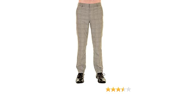 Mens 60s Vintage Retro Mod Blue Multi Check Tweed Slim Skinny Fitting Trousers