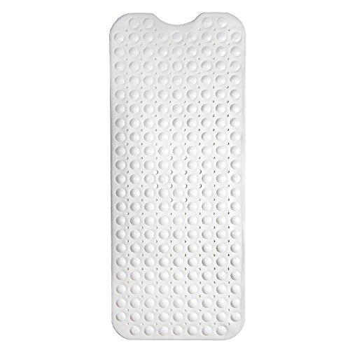 HaftPlus Badewannenmatte - Wanneneinlage Rutschfest - Badewanneneinlage Badematte in Weiß – Größe: 100 x 40 cm