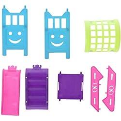 vivianu poupée toboggan jouets pour filles escalier Parc d'attractions lot de coulissantes accessoires pour maisons de poignet poupées miniatures jouet de jardin jardin d'enfants décoration