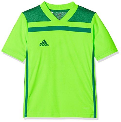 adidas Herren Regista 18 JSY T-Shirt, solar Bold Green, 9-10Y (Adidas Kinder Trikot)