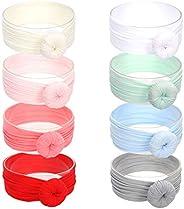 COUXILY Diadema de Turbante Algodón Anudado Cabeza Envolturas del Bebé Cabezal de estiramiento para niñas bebé