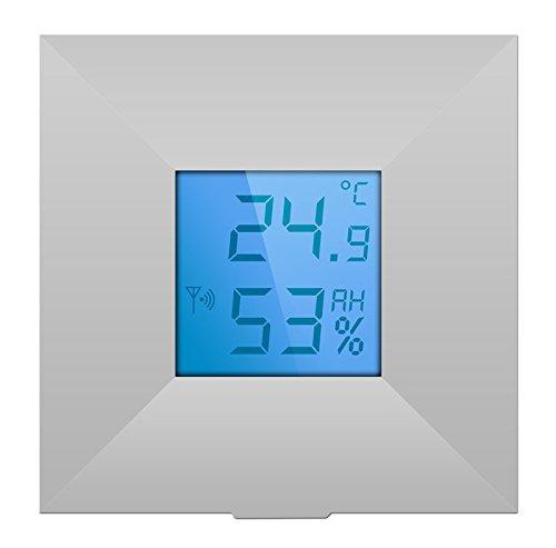 LUPUSEC Temperatursensor mit Display für die XT Smarthome Alarmanlagen, nicht kompatibel mit der XT1, das Display zeigt Temperatur und Luftfeuchte, ermöglicht temperaturgesteurertes Schalten, Automation, 12049