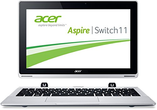 Acer Aspire Switch 11 SW5-171 29,5 cm (11,6 Zoll FHD) Convertible Notebook (Intel Core i3-4012Y, 1,5GHz, 4GB RAM, 60GB SSD, Intel HD Grafik, Win 8.1, Touchscreen) silber