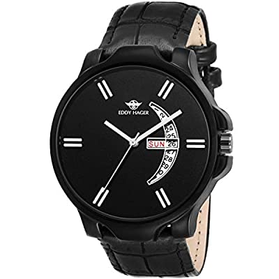Eddy Hager Black Day and Date Men's Watch EH-146-BK