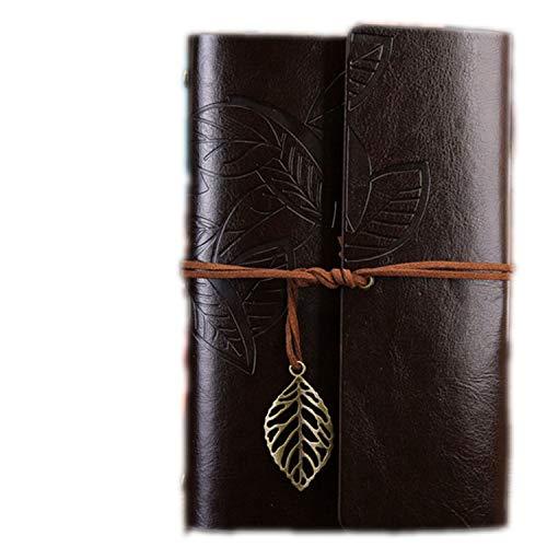 Vintage Travelers Notizbuch Tagebuch Notizblock PU Leder Spirale Literatur Notizbuch Papier Tagebuch Planer Schule Schreibwaren Geschenk Medium 125x185mm coffee