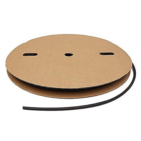MASUNN 100 Feet /30 Meter 1/4inch / 6mm I.D Polyolefin 2:1 Heat Shrink Tubing