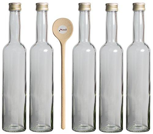 10 leere Glasflaschen 350ml klar Likörflaschen Schnapsflaschen Flaschen aus Glas zum selbst befüllen von feiner-Tropfen