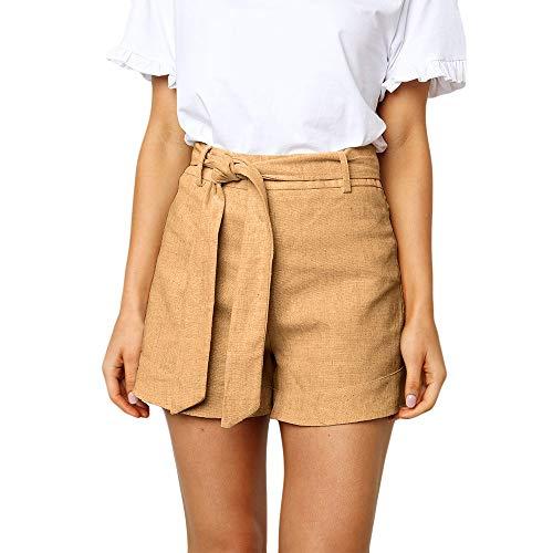 amen Sexy Strap Casual Solid Color Wash Baumwolle Shorts Hosen ()
