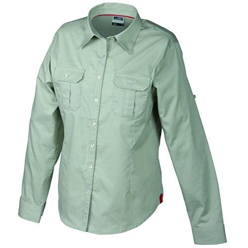 JAMES & NICHOLSON - chemise légère manches longues - repassage facile - JN605 - Femme blanc craie