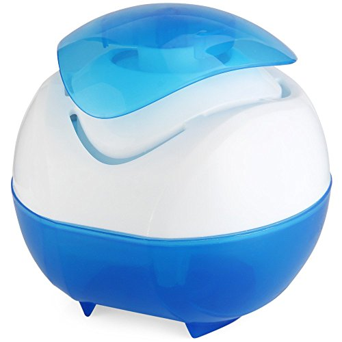 BlueBeach® Mini USB Luftreiniger Wasserfall Duft natürlich Luftbefeuchter Diffusor Luftfilter (Homedics Licht)