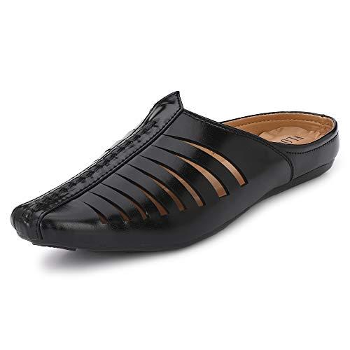 Flooristo Summer Latest Casual Mojaris/Juttis/Nagra Shoes for Men's (7uk/ind (Eu-41), Black)