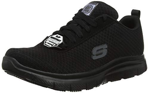 Skechers Herren Flex Advantage-Bendon Sneaker, Schwarz (Black Mesh/Water & Stain Repellent Treatment Blk), 43 EU