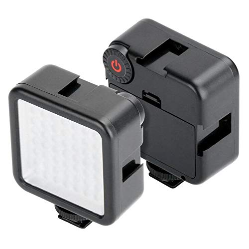 Honbobo Kamera Mini LED Videoleuchte Licht füllen für DJI Osmo Pocket Nikon Sony A6400 DSLR, mit 3 Cold Shoe Mount, 1/4-Schnittstelle
