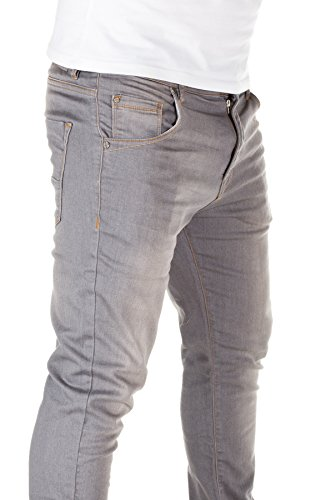 Yazubi Herren Sweathose in Jeansoptik Slim Fit grey used (10060)