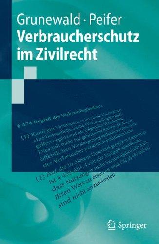 Verbraucherschutz im Zivilrecht (Springer-Lehrbuch)