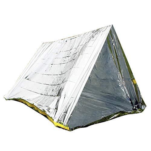 Sainode Tunnelzelt Campingzelt Survival-Set mit Notfall-Zelt und Folien-Schlafsack (Rettungssack) trendy Atmungsaktiv