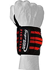 SUPREME Sports Bandages de boxe Bandages poignet Wrist Wraps 45cm Compétition qualité Boîtes Fitness Bodybuilding lutte Sport MMA Noir