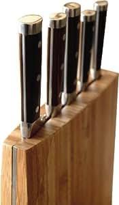iris ir3721 i range couteaux 5 couteaux bambou verre cuisine maison. Black Bedroom Furniture Sets. Home Design Ideas