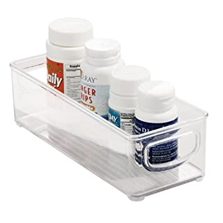 InterDesign Cabinet/Kitchen Binz Kitchen Storage Container, Small Plastic Storage Boxes for The Fridge, Freezer or Pantry, Clear