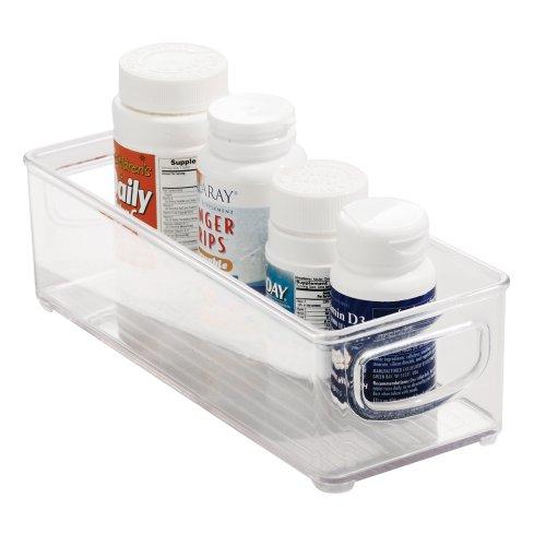 Küche-kühlschrank Kleine (InterDesign Cabinet/Kitchen Binz Aufbewahrungsbox, kleiner Küchen Organizer aus Kunststoff, durchsichtig)