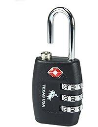Texas USA - TSA Lock - Black - Mandatory for US Customs (ONLY ORIGINAL BRANDED LOCK ONLINE !)
