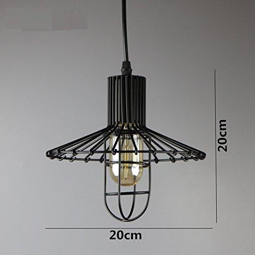 Yaojiaju Retro Leuchten, 4 Arten Eisen Käfig Lampenschirm Lager Stil Vintage Pendelleuchte LED-Leuchten LED