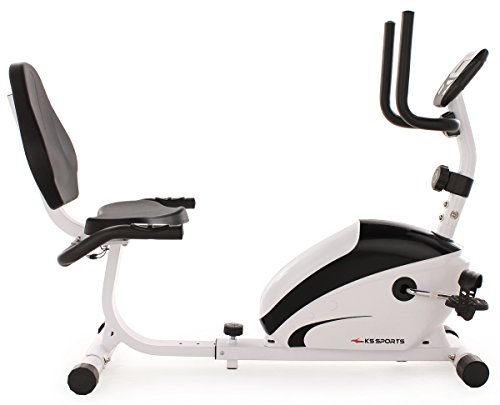 KS Cycling Fitnessgerät Recumbent Bike Sports, Weiß, 302F