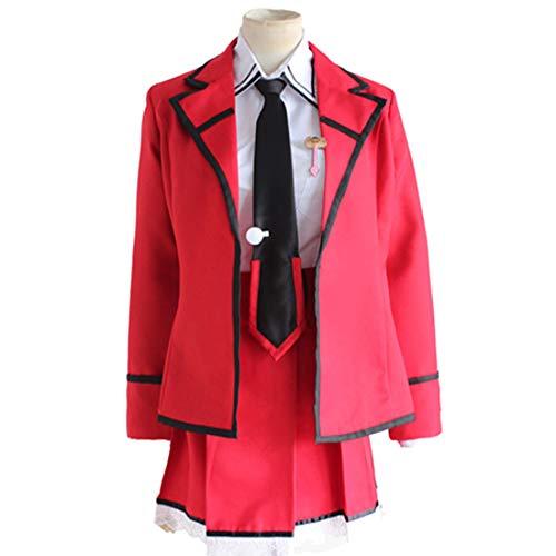 RL Anime Date EIN Live Cosplay Itsuka Kotori Efreet Kostüm Schuluniform Kleid Outfit Halloween Party Anzug,Full Set-XL (Kotori Cosplay Kostüm)