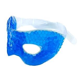 M&H-24 Augen-Gelmaske Entspannungsmaske Augenmaske Gel Kühlmaske – für Kältetherapie Wärmetherapie – gegen Kopfschmerzen Augenringe Falten