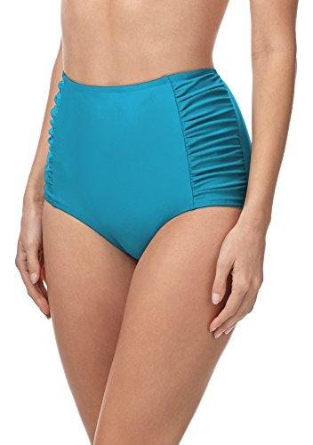 Merry Style Bas de Bikini Short Boxer Culotte de Bain Vêtements d'été Femme MS10-119 (Bleu (6046), EU 36=FR 38)