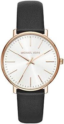 Michael Kors Reloj Analógico para Mujer de Cuarzo con Correa en Cuero MK2834