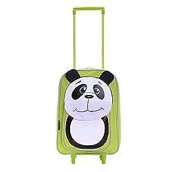 Karabar Tierwelt Freunde Kinder Trolley-Tasche (Grün Panda)