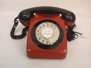 GPO Red And Black 746 Rotary Dial Phone - Genuine Original Retro ...