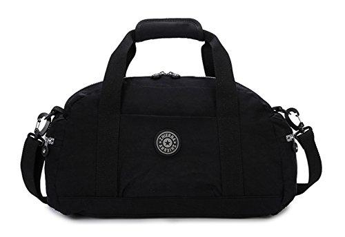 Keshi Nylon Niedlich Damen Handtaschen, Hobo-Bags, Schultertaschen, Beutel, Beuteltaschen, Trend-Bags, Velours, Veloursleder, Wildleder, Tasche Schwarz