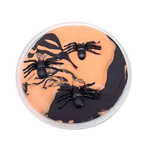 DERKOLY Halloween Spinne Schleim Kitt Lehm Plastilin Stressabbau Kinder Schlamm Spielzeug 60ML