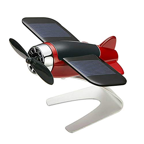 Alaojie Car Air Freshener Airplane Aircraft Model Solar Energy Aromatherapy Interior Decoration