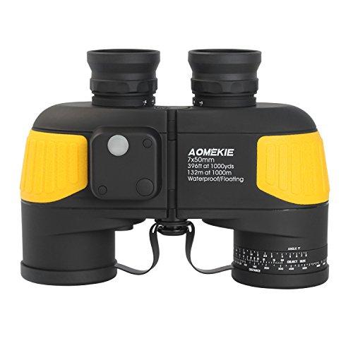 Aomekie Militär Marine Fernglas mit Nachtsicht Entfernungsmesser Kompass 7X50 HD Wasserdicht BAK4...