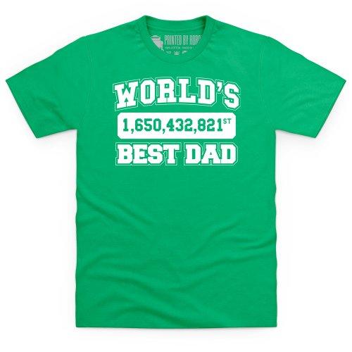 World's Best Dad T-shirt, Uomo Verde smeraldo