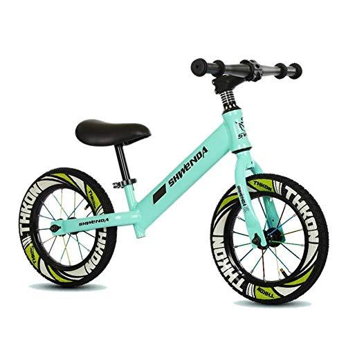 Balance Bikes, Kleinkind-Fahrrad, für Kinder - 2, 3, 4,5, 6 Jahre, ohne Pedal Schritt zu Fuß Fahrrad Geburtstagsgeschenk, Trainingsfahrrad, Leichtstahlrahmen, Grün ZHAOFENGMING