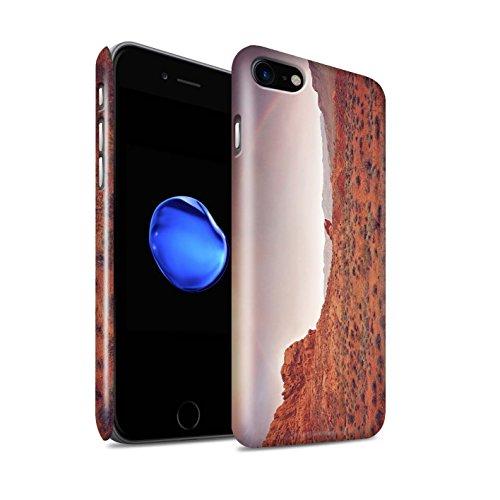 STUFF4 Glanz Snap-On Hülle / Case für Apple iPhone 8 / Straße/Autobahn Muster / Bundesstaat Nevada Kollektion Regenbogen