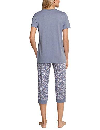 Schiesser Anzug 3/4, 1/2 Arm, Pyjamas Deux-Pièces Femme Blau (Jeansblau 816)