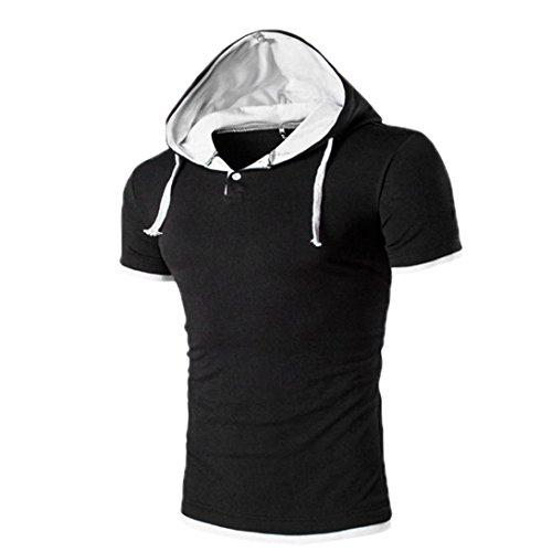 Tefamore Hommes T-shirt à manches courtes pour (L, Blanc)